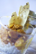 La taberna de El Chato. Pollo al curry
