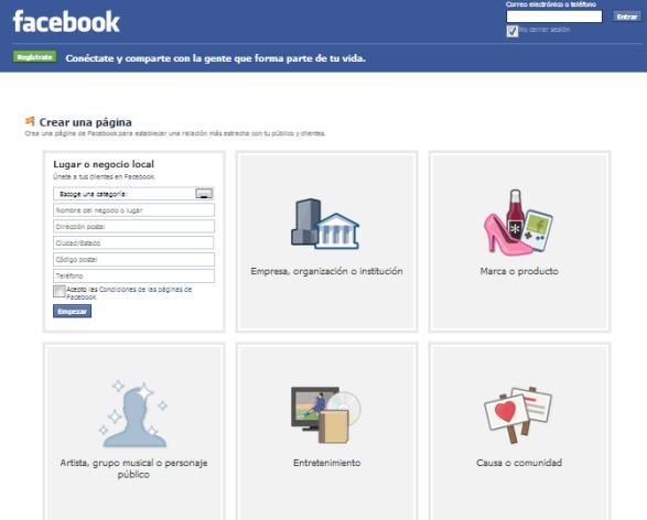 Como abrir una fan page en facebook no asociada a nuestro perfil personal