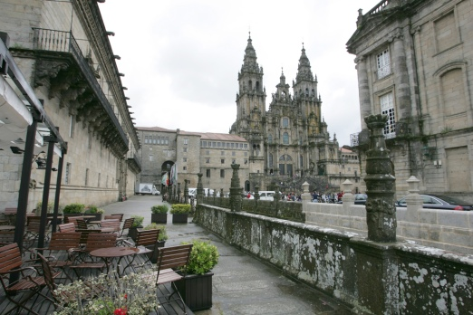 La Catedral desde terraza Hostal Reyes Católicos. Santiago de Compostela.