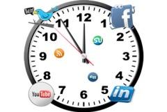 Mejores horas para tuitear. Social Media Clock